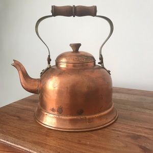 Vintage Kitchen - Vintage • Copper Tea Kettle